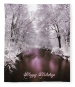 Christmas Pond Fleece Blanket