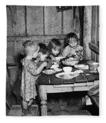 Christmas Poor, 1936 Fleece Blanket