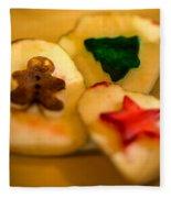 Christmas Potato Stamps Fleece Blanket
