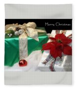 Christmas Presents Fleece Blanket
