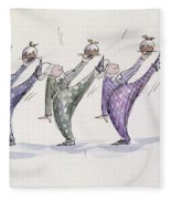 Christmas Pudding Fleece Blanket