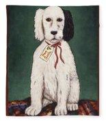 Christmas Puppy Fleece Blanket
