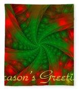 Christmas Ribbons Fleece Blanket