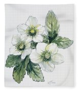 Christmas Rose Fleece Blanket