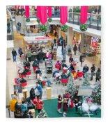 Christmas Shopping Fleece Blanket