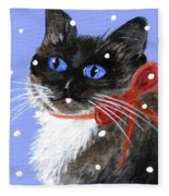 Christmas Siamese Fleece Blanket