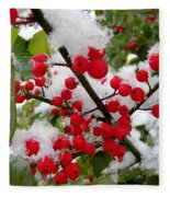 Christmas Snow Fleece Blanket