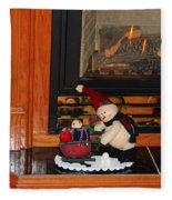 Christmas - Snowmen Collection- Fireplace Fleece Blanket