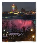 Christmas Spirit At Niagara Falls Fleece Blanket