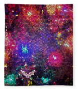 Christmas Stained Glass  Fleece Blanket