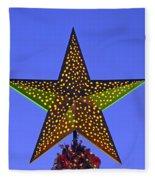 Christmas Star During Dusk Time Fleece Blanket