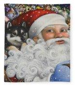 Christmas Stowaway Fleece Blanket
