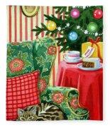 Christmas Tea Fleece Blanket