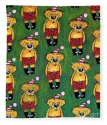 Christmas Teddies Fleece Blanket