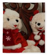 Christmas Time Bears Fleece Blanket