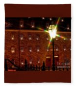 Christmas Time In Bethlehem Fleece Blanket