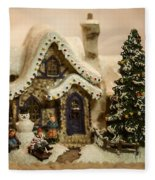 Christmas Toy Village Fleece Blanket