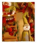 Christmas Toys Fleece Blanket