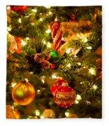 Christmas Tree Background Fleece Blanket