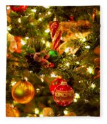 Christmas Tree Background Fleece Blanket