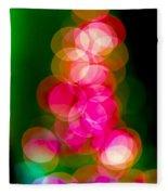Christmas Tree Bokeh Background Fleece Blanket