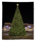 Christmas Tree Hampton City Center  Fleece Blanket