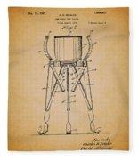 Christmas Tree Holder Patent 1927 Fleece Blanket