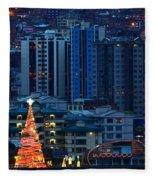 Christmas Tree In La Paz Fleece Blanket