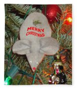 Christmas Tree Mouse Fleece Blanket