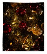 Christmas Tree Ornaments 3 Fleece Blanket