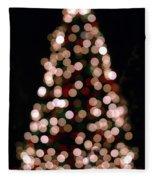 Christmas Tree Out Of Focus Fleece Blanket
