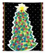 Christmas Tree Polkadots Fleece Blanket