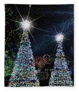 Christmas Trees Fleece Blanket