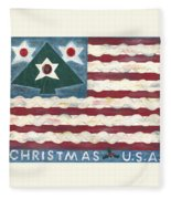Christmas U.s.a. Fleece Blanket