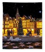 Christmas Village Fleece Blanket