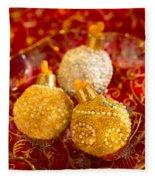 Christmasball Cupcakes In Red Fleece Blanket