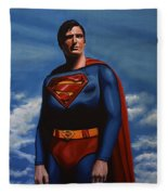 Christopher Reeve As Superman Fleece Blanket
