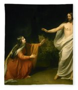 Christs Appearance To Mary Magdalene After The Resurrection Fleece Blanket