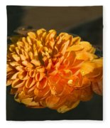 Chrysanthemum Gently Floating In The Fountain Of Campo De Fiori - Rome - Italy Fleece Blanket
