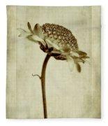 Chrysanthemum In Sepia Fleece Blanket