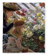 Chrysanthemums, 1890 Fleece Blanket
