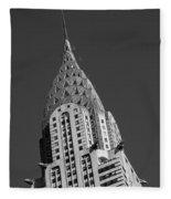 Chrysler Building Bw Fleece Blanket