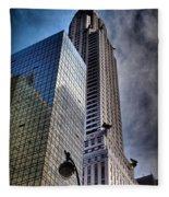 Chrysler Building From Below Fleece Blanket
