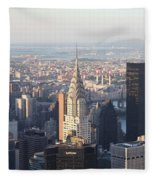 Chrysler Building From The Empire State Building Fleece Blanket