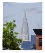 Chrysler Building View Fleece Blanket