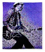 Chuck Berry Rocks Abstract Fleece Blanket