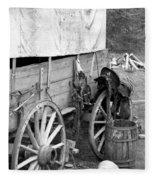 Chuck Wagon - Bw 02 Fleece Blanket