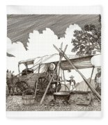 Chuckwagon Cattle Drive Breakfast Fleece Blanket