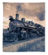 Full Steam Through The Meadow Fleece Blanket