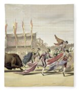 Chulos Playing The Bull, 1865 Fleece Blanket